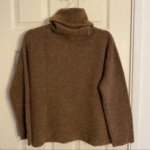 EILEEN FISHER Cropped Boucle Turtleneck Sweater, M